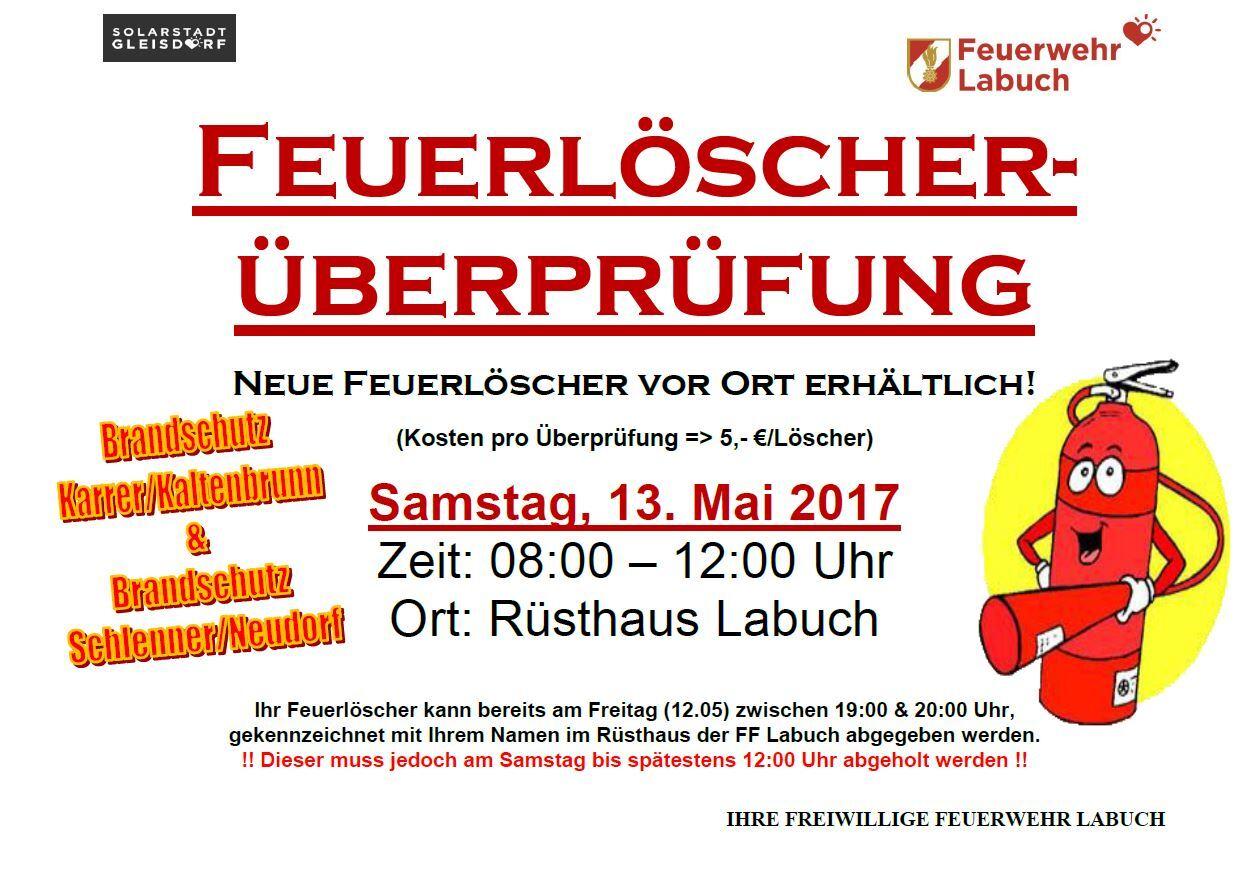 Relativ Feuerlöscher-Überprüfung QK35