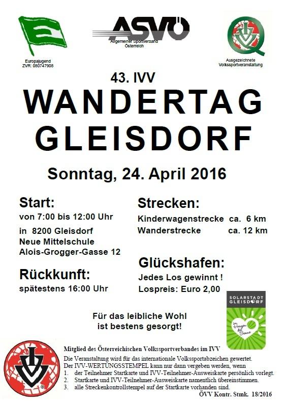 43 Ivv Wandertag Gleisdorf